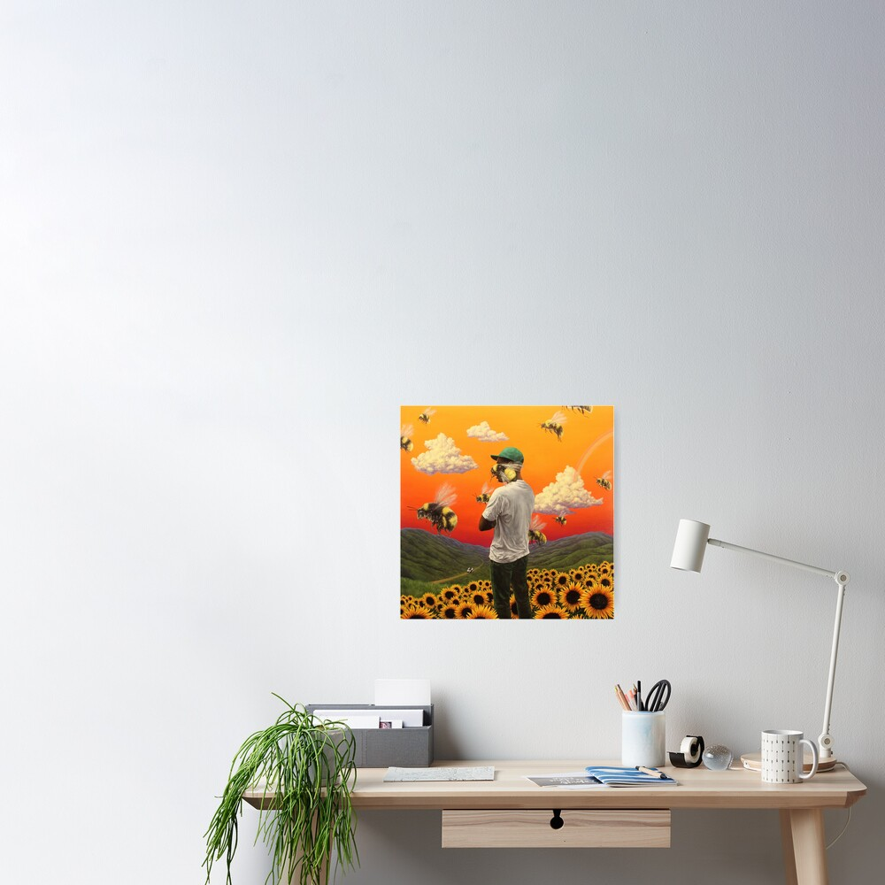 bee boy flower Poster Poster