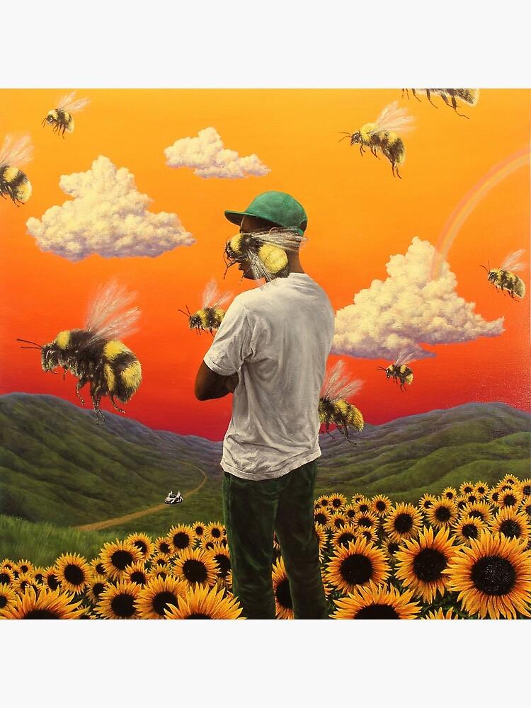 bee boy flower Poster by BirtheEnoksen