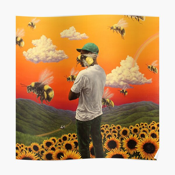bee boy flower Poster Poster