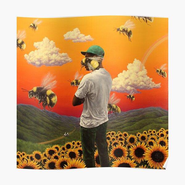 fleur de garçon d'abeille Poster Poster