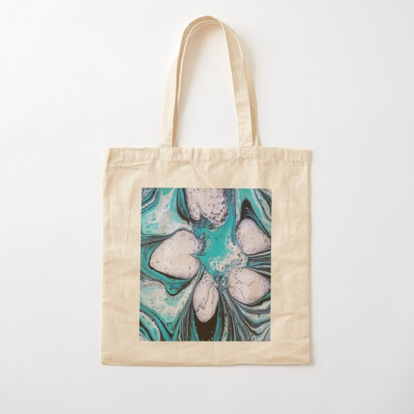Bloomin Blue Cotton Tote Bag