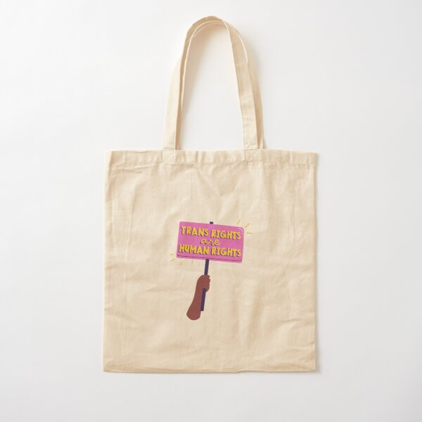 Trans rights are human rights  Cotton Tote Bag