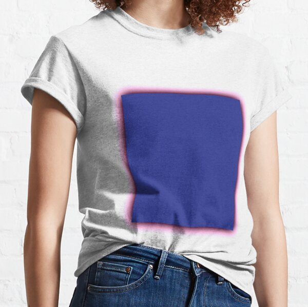 Blue square with shadow Classic T-Shirt