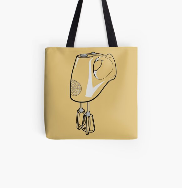 Electric Whisk All Over Print Tote Bag