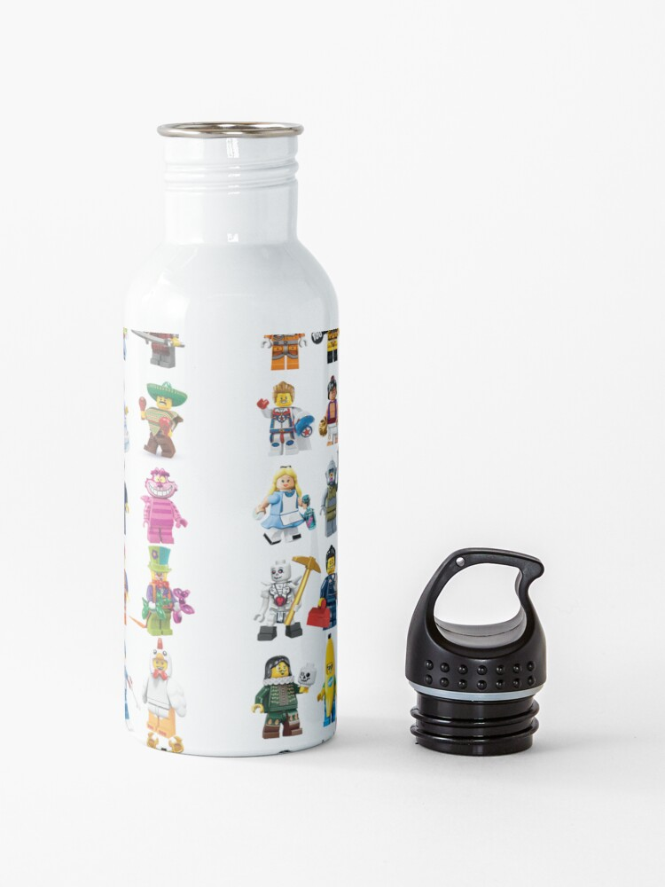 Alternate view of Lego figurines patterm Water Bottle