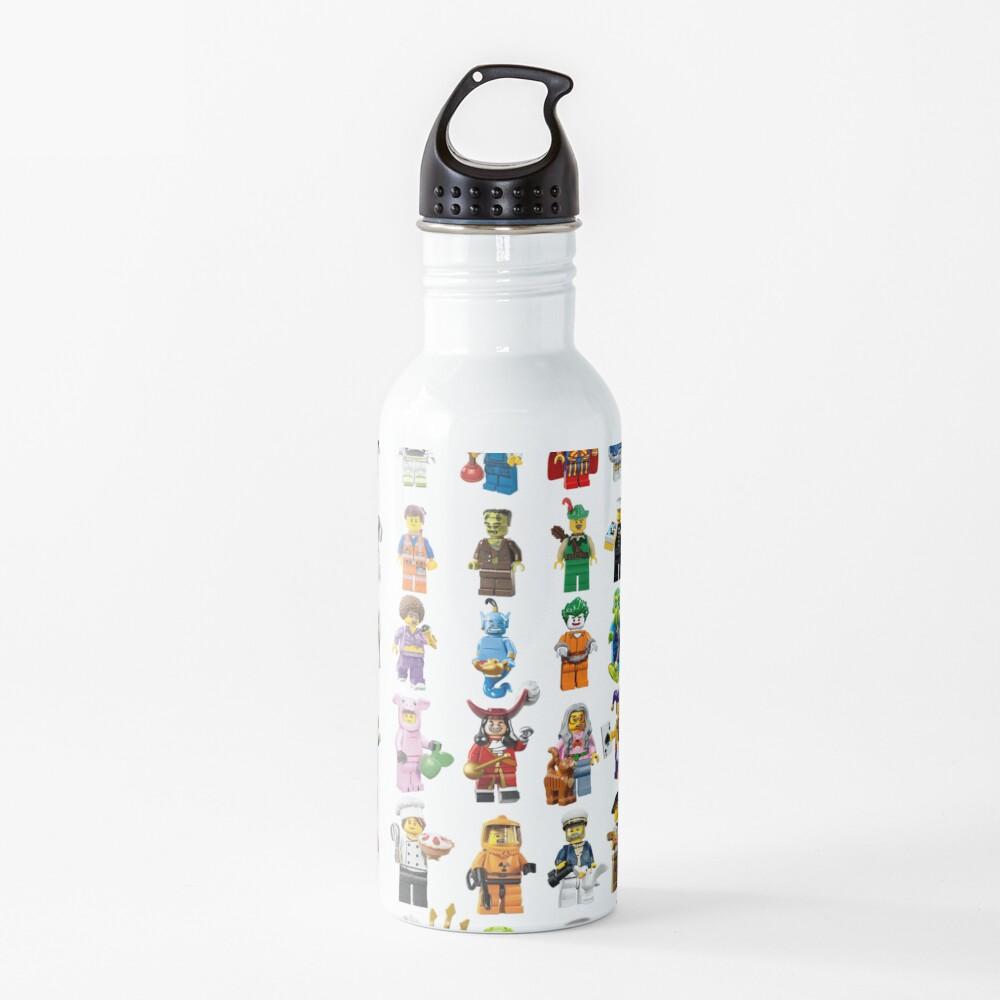 Lego figurines patterm Water Bottle