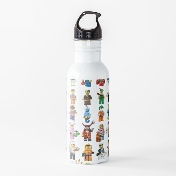 Lego figurines patterm Water Bottle