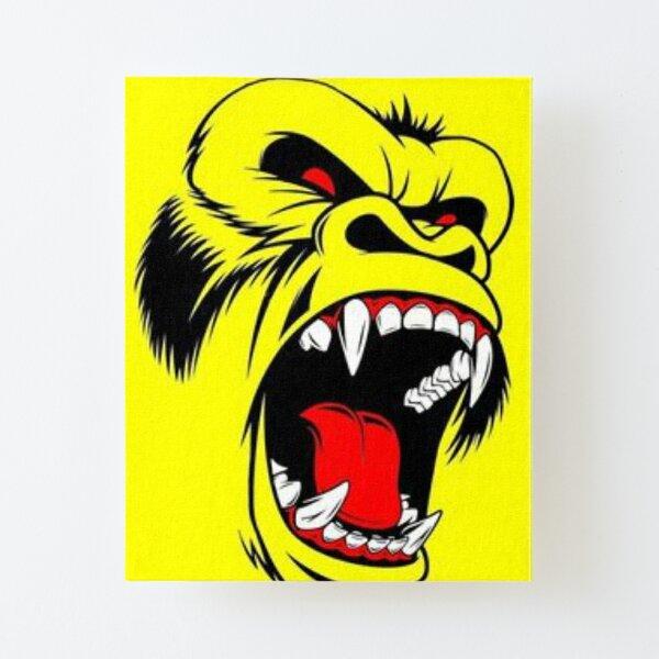 monkey Canvas Mounted Print
