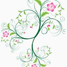 Swirly Flowers by pjwuebker