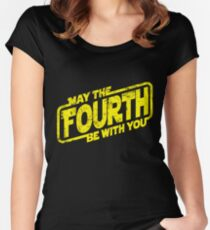 May The Fourth Be With You Women's Fitted Scoop T-Shirt