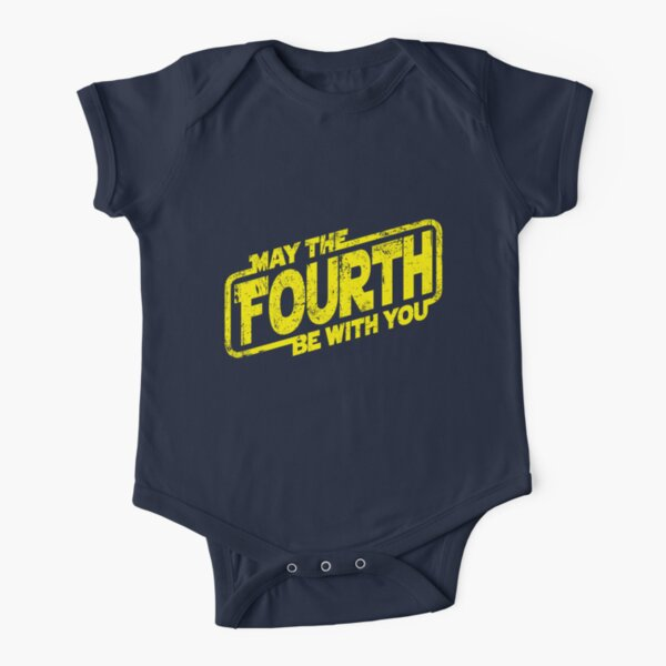May The Fourth Be With You Short Sleeve Baby One-Piece
