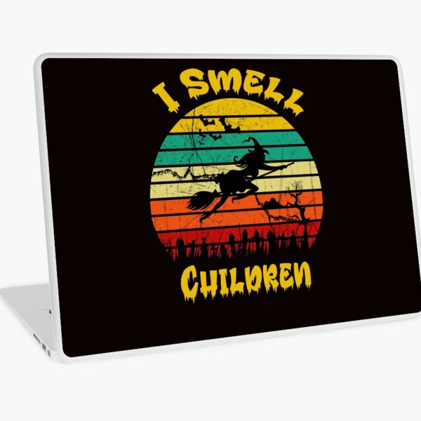 Funny Witchtes Hats, Hocus Pocus, I Smell Children Costume for Halloween Party Slim Fit T-Shirt Laptop Skin
