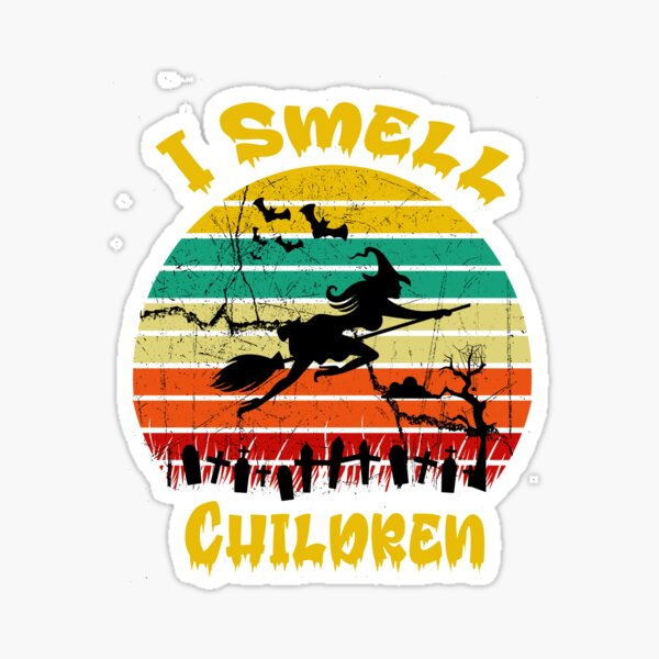 Funny Witchtes Hats, Hocus Pocus, I Smell Children Costume for Halloween Party Slim Fit T-Shirt Sticker