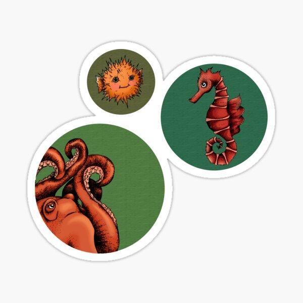 Sea creature bubbles Sticker