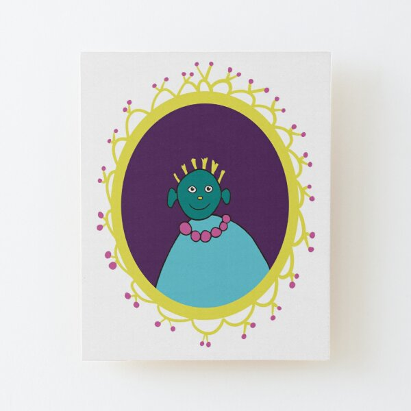 A Weird and Quirky Person, a strange unusual character. Wood Mounted Print