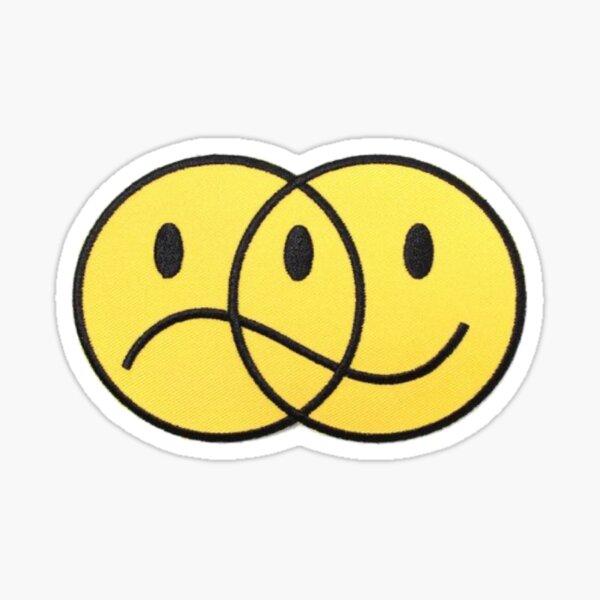 Cara triste feliz Pegatina