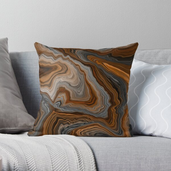 The Copper Planet Throw Pillow