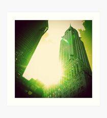 Green Chrysler Building Art Print