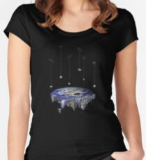 Flat Earth Women's Fitted Scoop T-Shirt