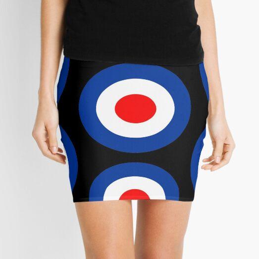 Northern soul Mod Target Mini Skirt