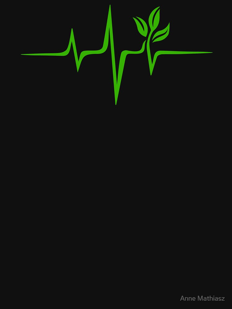 Heartbeat, Pulse Green, Vegan, Frequency, Wave, Earth, Planet by boom-art