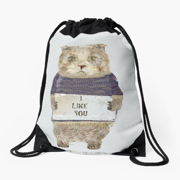 i like you Drawstring Bag
