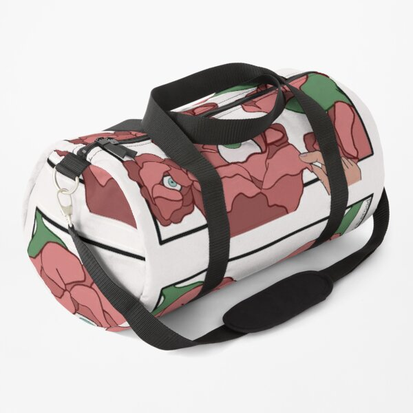 Flowers with eyeballs Duffle Bag