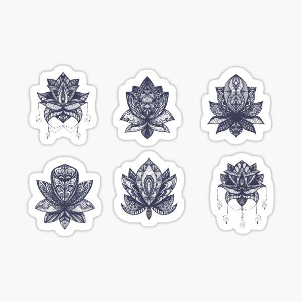 Mandala Lotus Flowers stickers pack Sticker