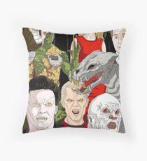 Buffy Big Bad Poster Throw Pillow