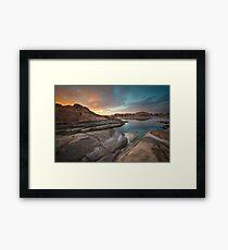 Sunset Melt Framed Print