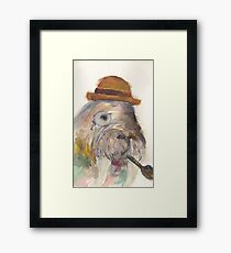 Manly Walrus  Framed Print