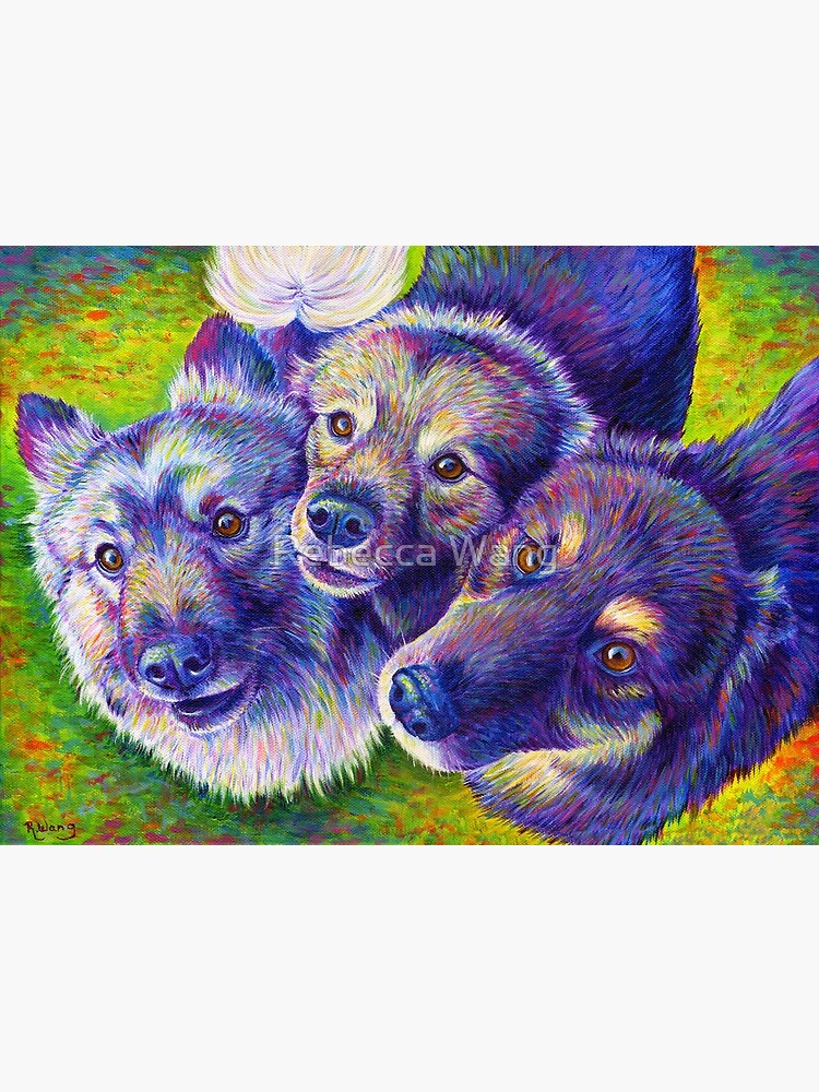 Three Amigos Colorful Dogs by lioncrusher