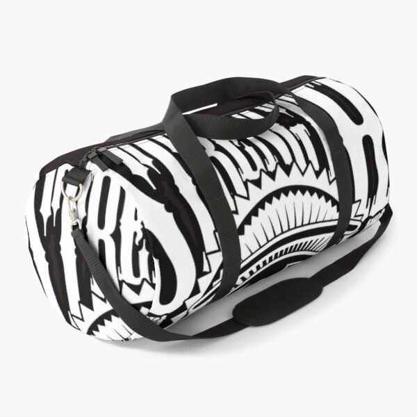 Strength and Culture White Lettering Duffle Bag