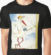 Special Delivery Stork Graphic T-Shirt
