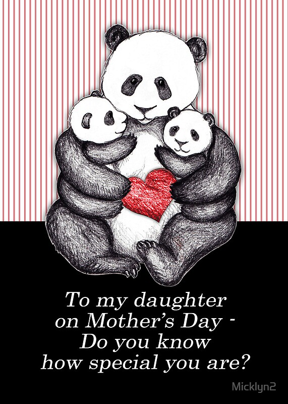 Quot To My Daughter On Mother S Day Panda Illustration Quot By