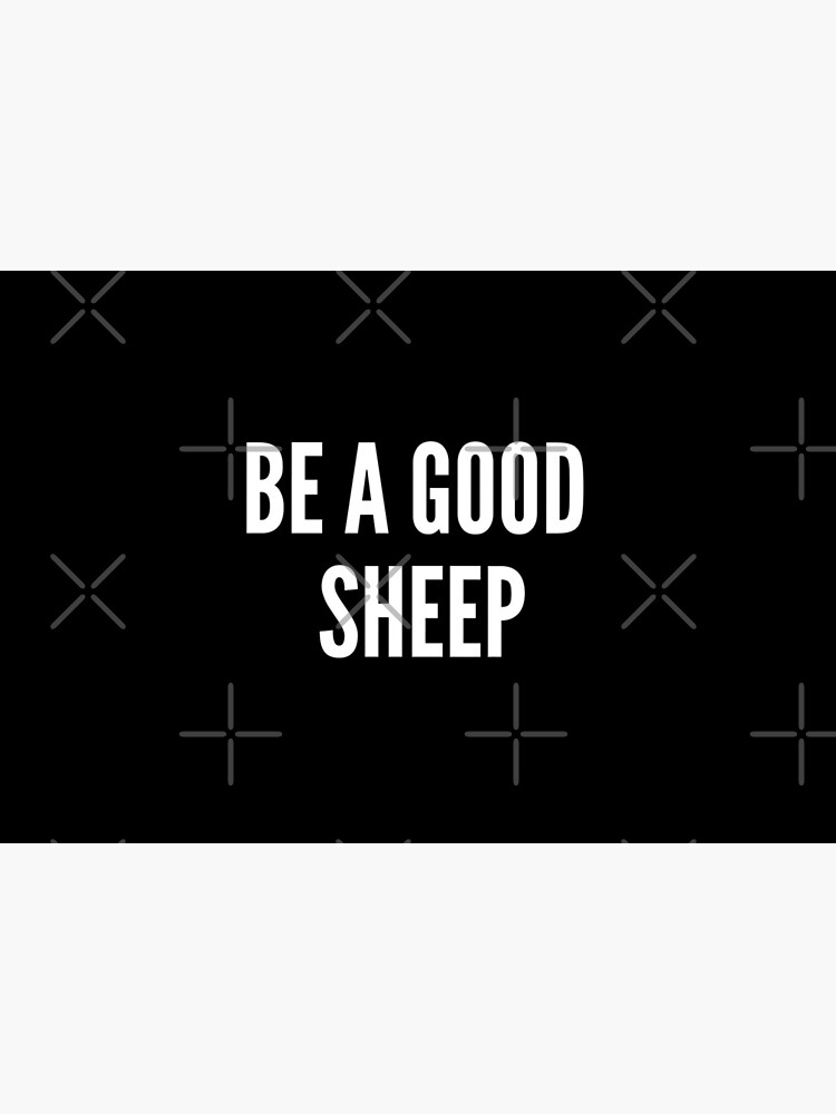 FACE MASK - BE A GOOD SHEEP by MARCODABEAST