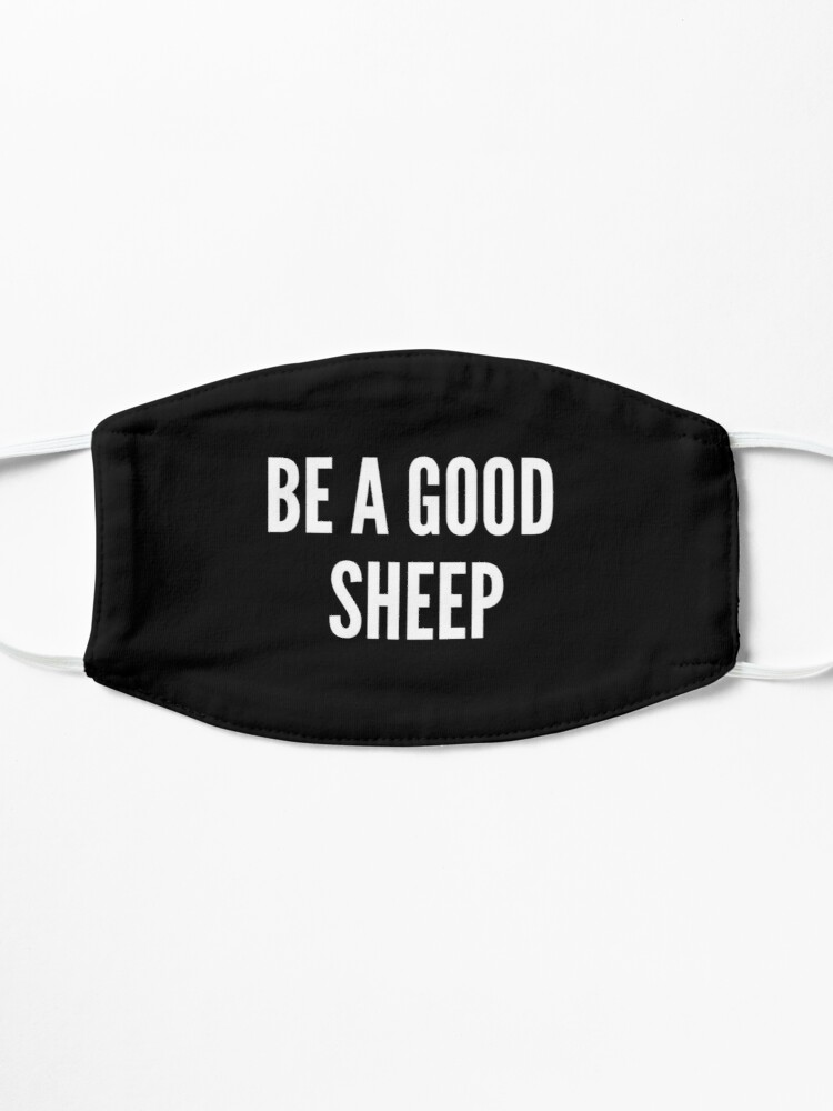 Alternate view of FACE MASK - BE A GOOD SHEEP Mask
