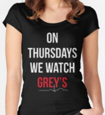 """On Thursdays We Watch Grey's"" Women's Fitted Scoop T-Shirt"
