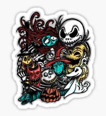 Nightmarish Characters Sticker