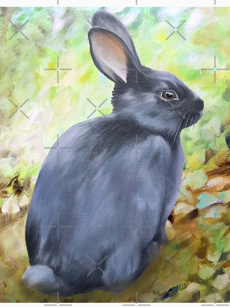 Black Rabbit In The Forest by EmilyBickell