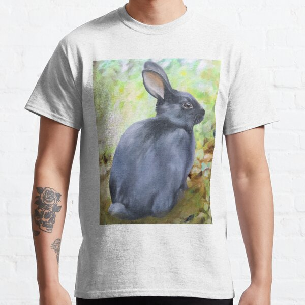 Black Rabbit In The Forest Classic T-Shirt