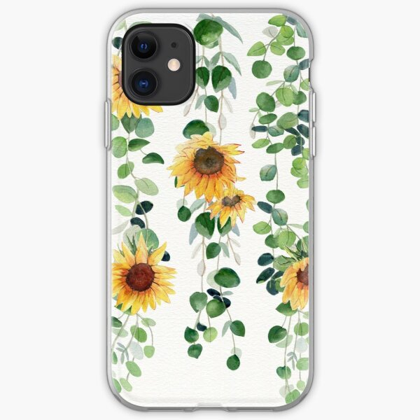 Eucalyptus and Sunflowers Garland iPhone Soft Case