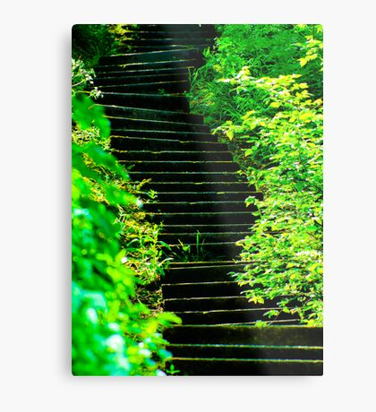 Sunny steps in Scarborough Metal Print