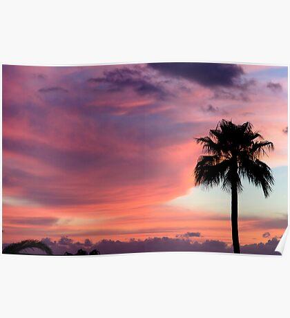 Sunset in Los Gigantes, Tenerife Poster