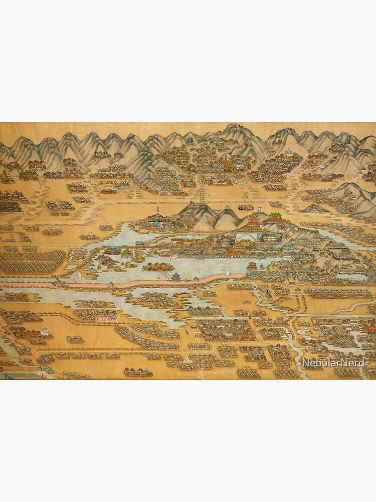 c. 1888 Map of the Summer Palace (颐和园), Beijing, China by NebularNerd