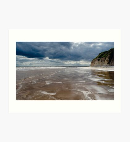 Dane's Dyke Beach, Bridlington Art Print