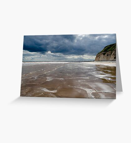 Dane's Dyke Beach, Bridlington Greeting Card