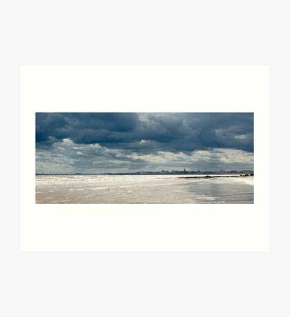 The sea at Bridlington, East Yorkshire Art Print