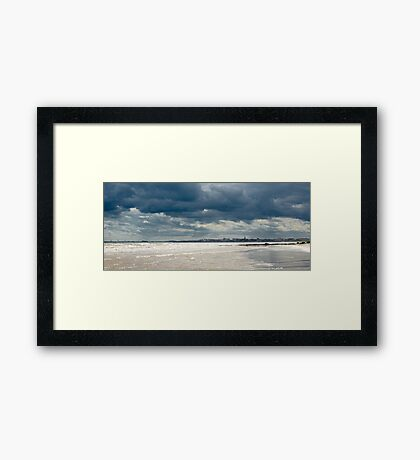 The sea at Bridlington, East Yorkshire Framed Print