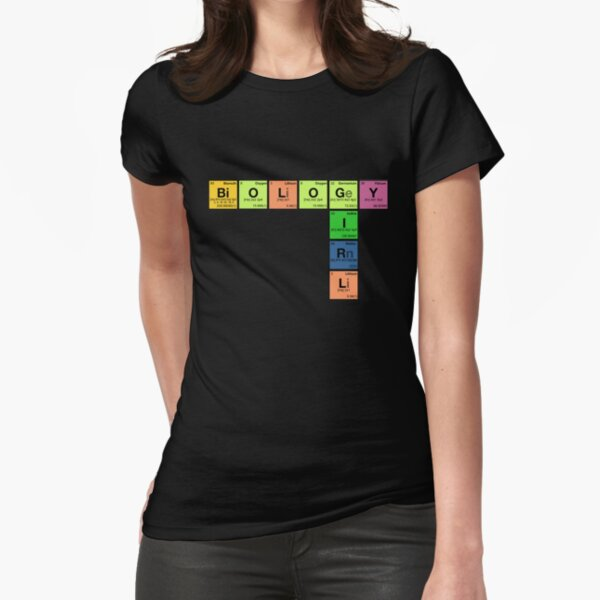 BIOLOGY GIRL - Periodic Elements Scramble! Fitted T-Shirt